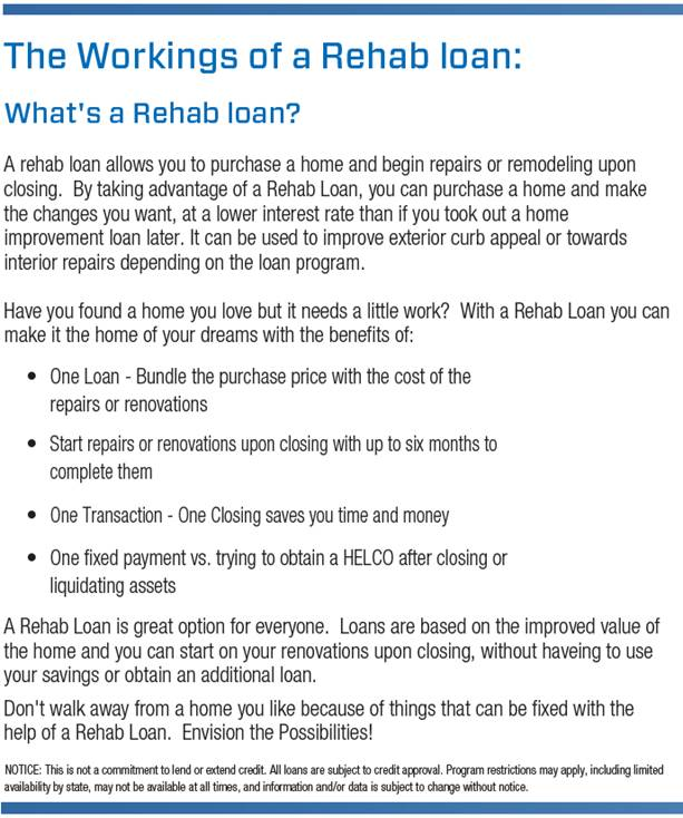 The Workings of a Rehab Loan